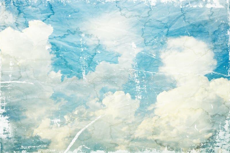Geweven uitstekende bewolkte hemel royalty-vrije stock foto's