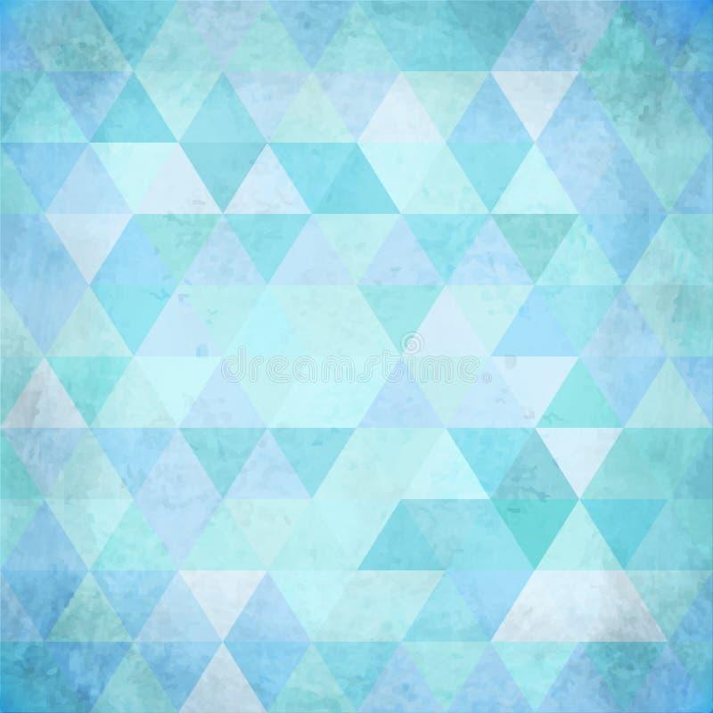 Geweven uitstekende roze vectordriehoekenachtergrond vector illustratie