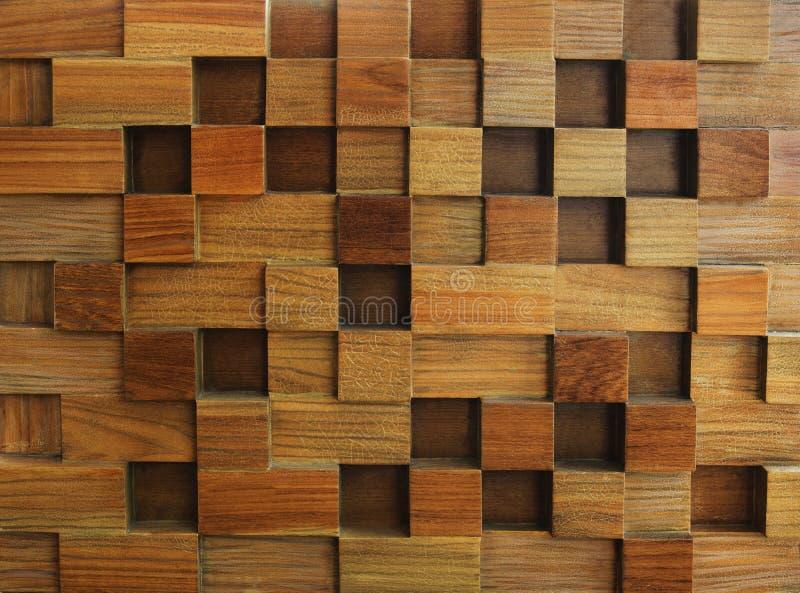 Geweven van houten kubusgebruik als achtergrond voor multifunctionele vorm en stock afbeeldingen
