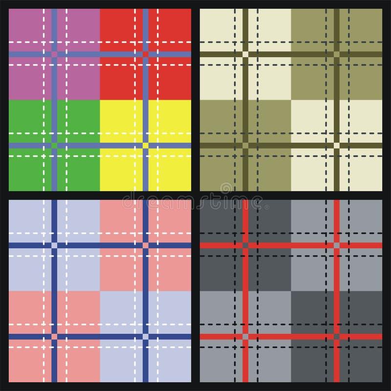 Geweven vectorpatroon royalty-vrije illustratie