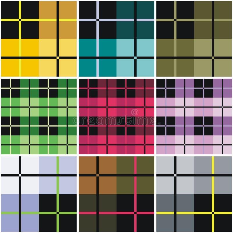 Geweven vectorplaid vector illustratie