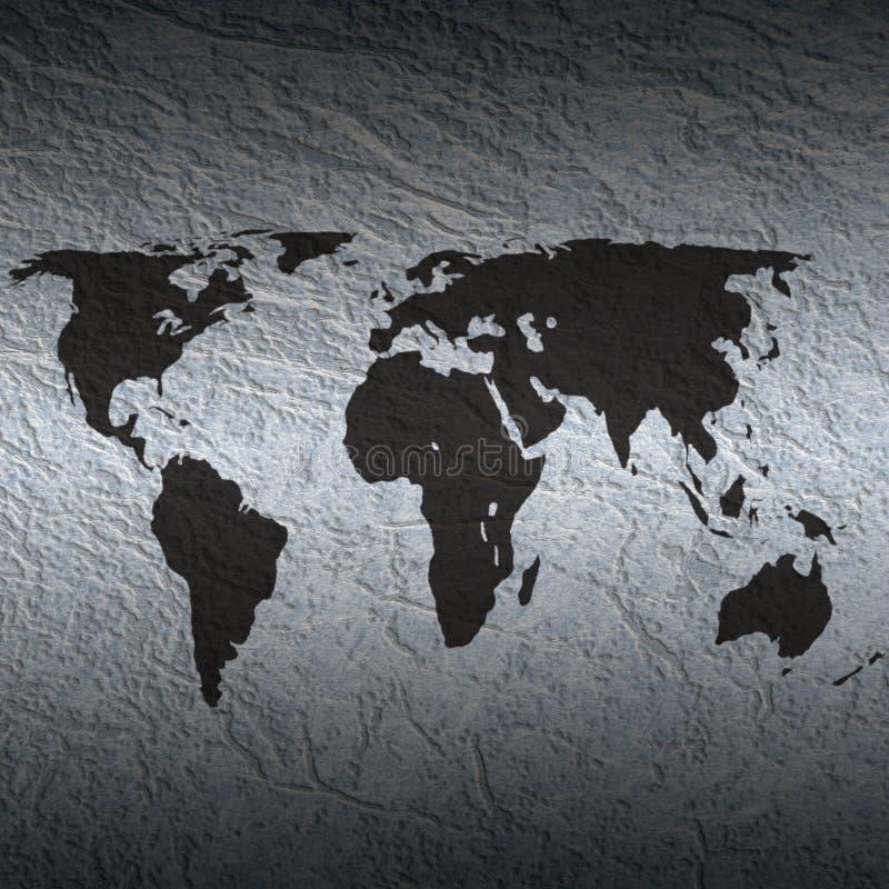 Geweven wereldkaart vector illustratie