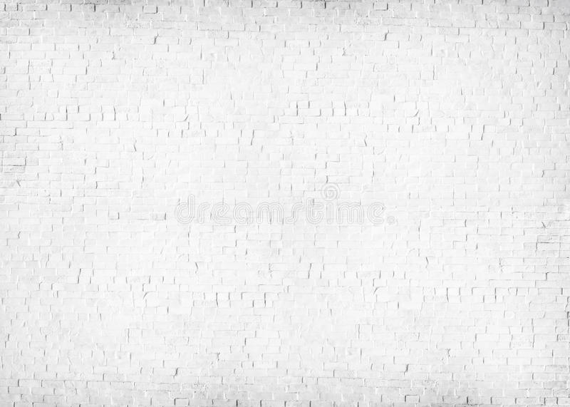 Geweven Wit Geschilderd Bakstenen muur Concreet Concept stock foto's