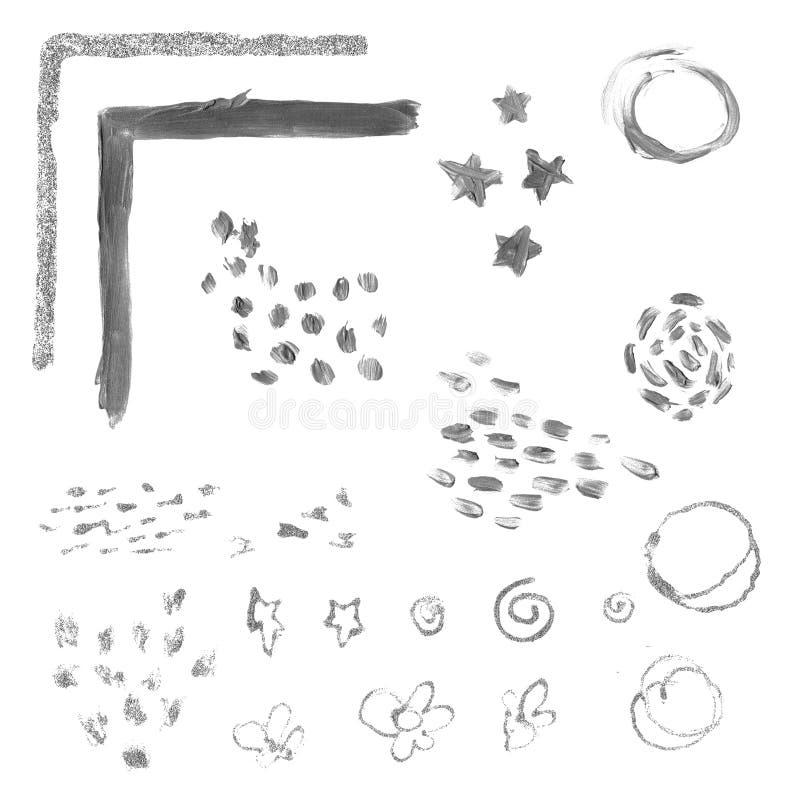 Geweven zilveren vlek stock illustratie