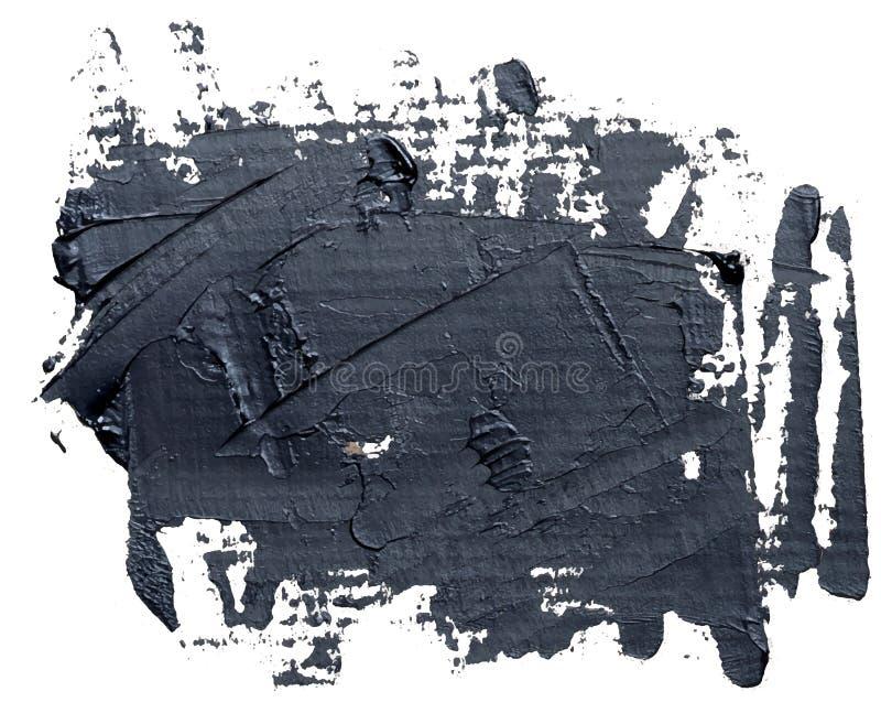 Geweven zwarte geïsoleerde olieverfkwaststreek, vector illustratie