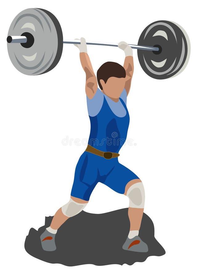 Gewicht stock abbildung