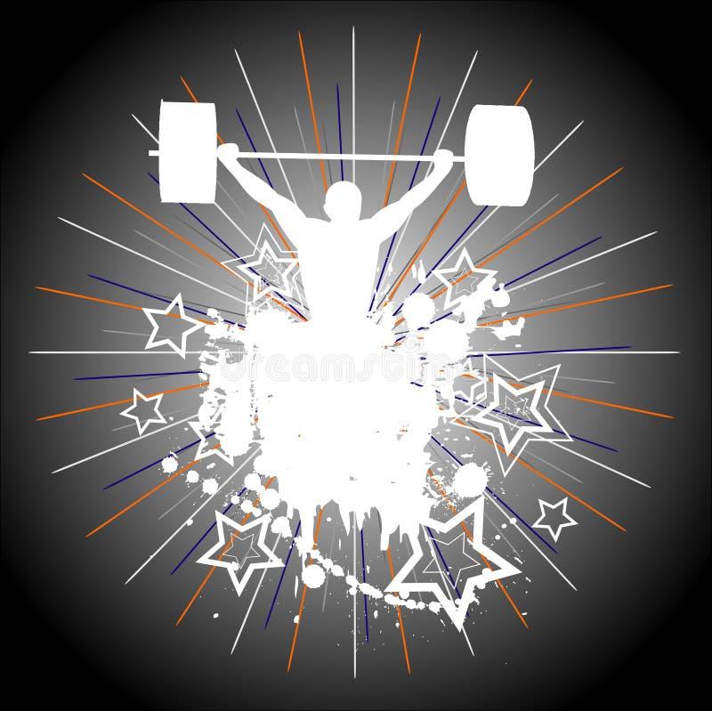 Gewicht-Anheben. vektor abbildung