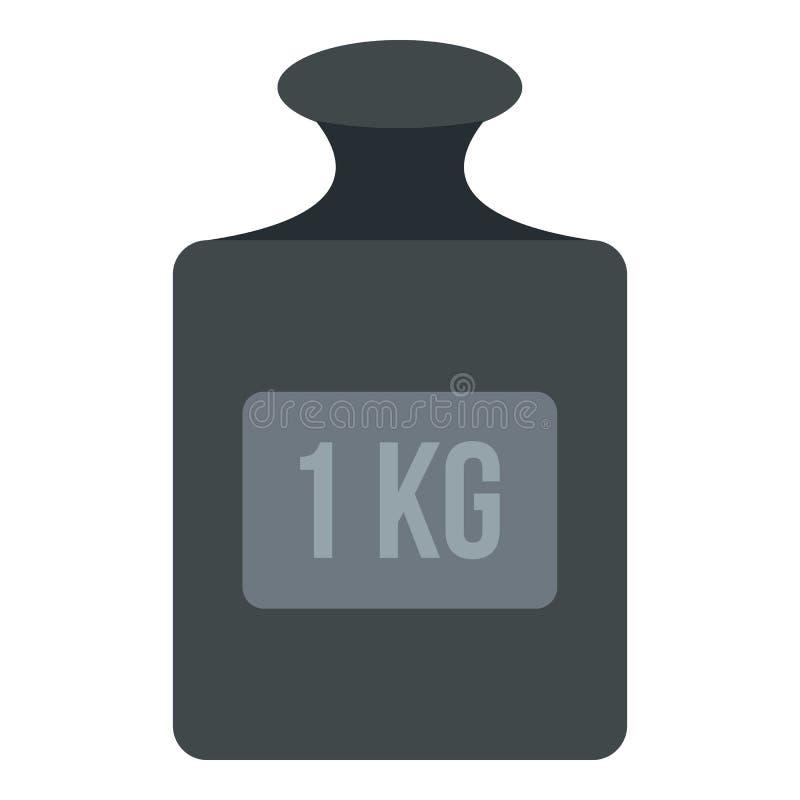 Gewicht 1 kg-geïsoleerd pictogram royalty-vrije illustratie
