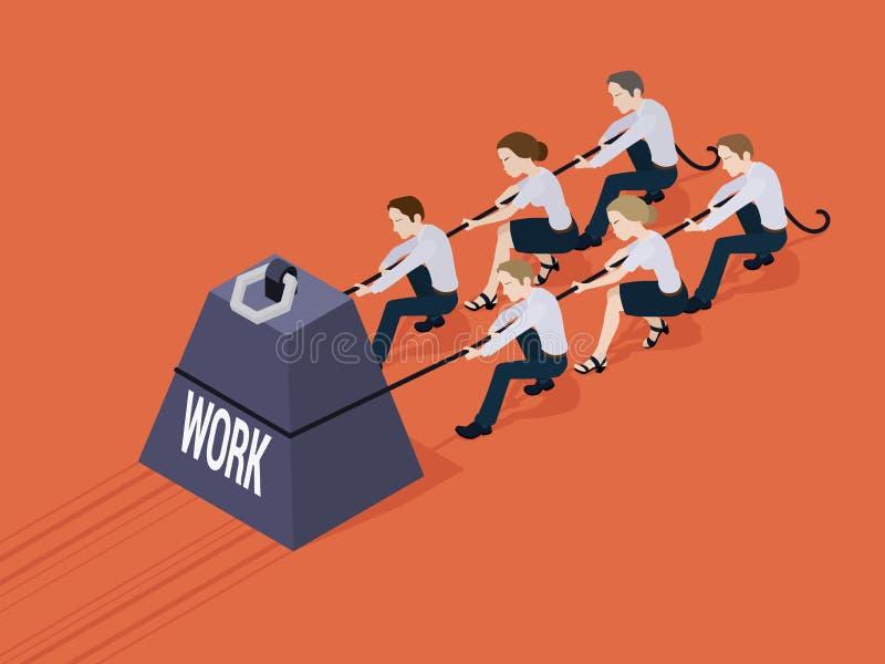 Gewicht mit der Arbeitsaufschrift stock abbildung
