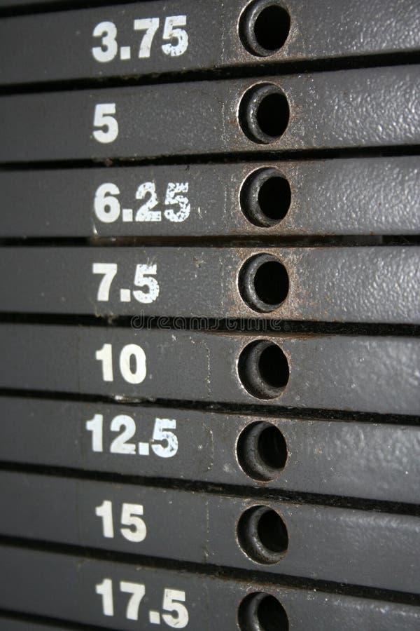 Gewicht-Stapel-Skala lizenzfreie stockfotografie