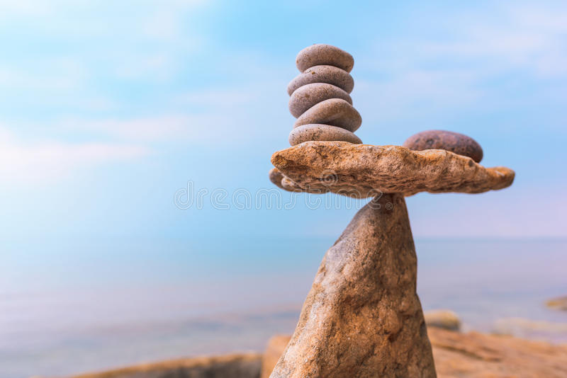 Gewicht Steine stockfotos