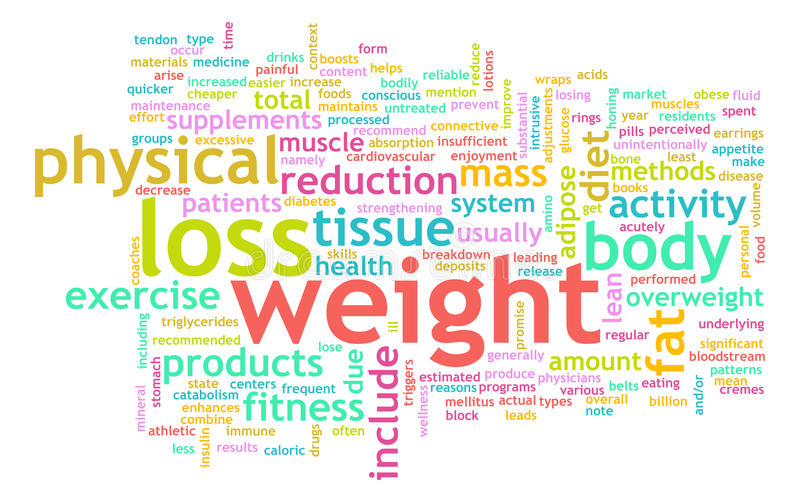 Gewicht-Verlust stock abbildung