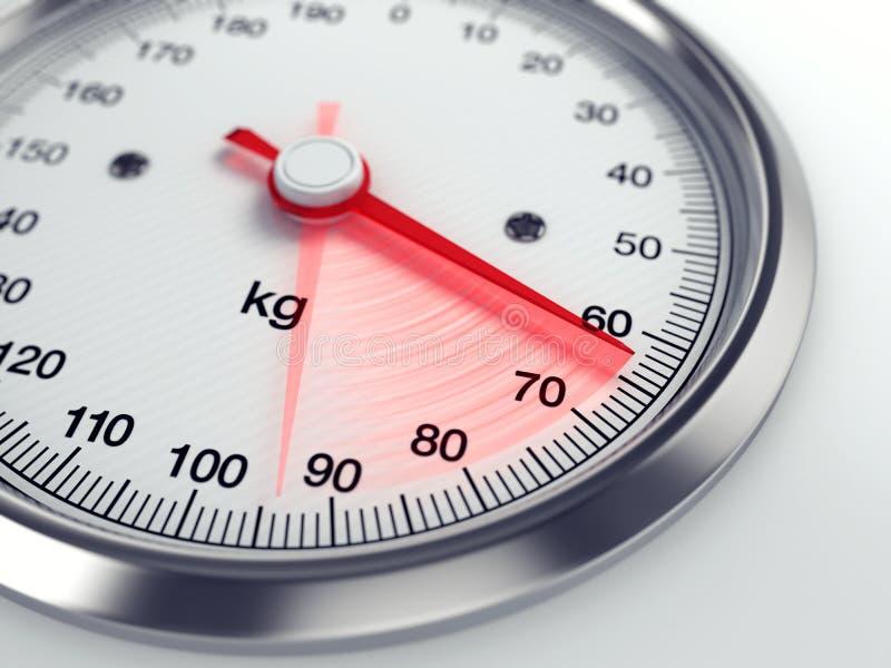 Gewicht-Verlust lizenzfreie abbildung