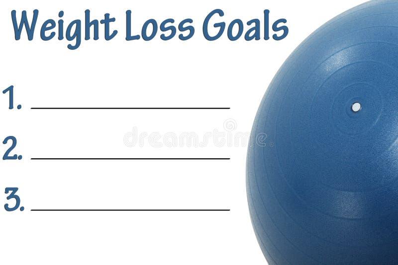 Gewicht-Verlust-Ziel-Liste stockfotografie