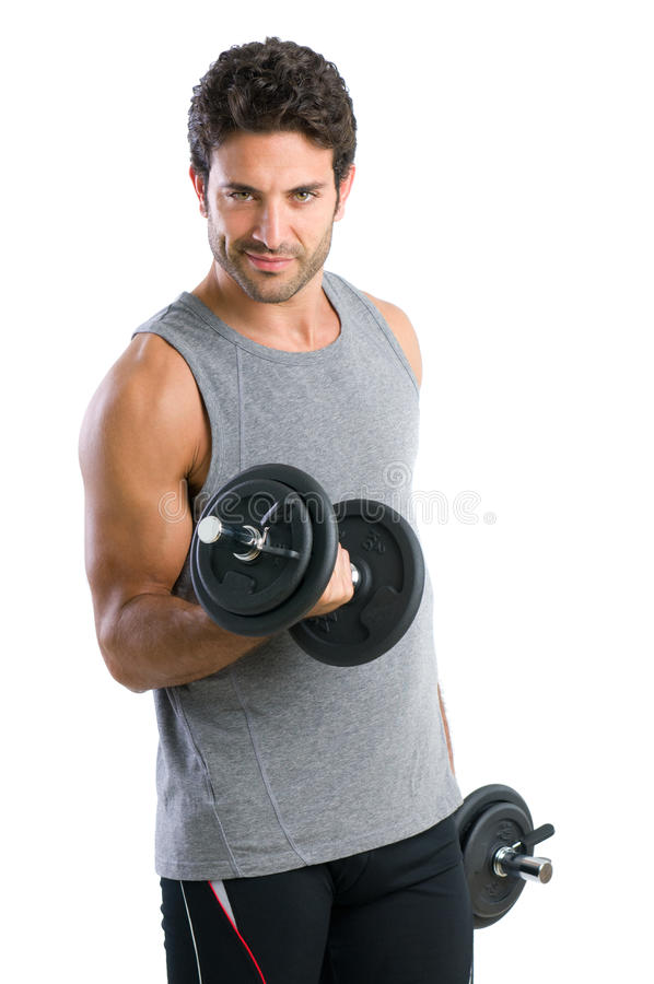 Gewichtanhebenübung stockbild