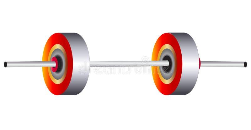 Gewichtanheben vektor abbildung