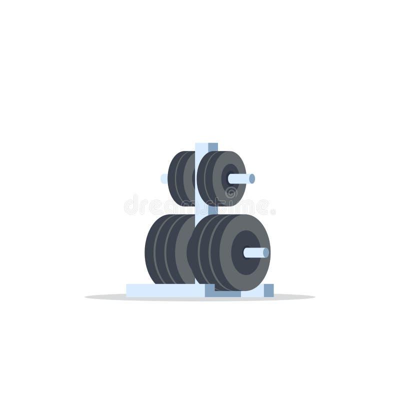 Gewichte beanspruchen für Barbell stark lizenzfreie abbildung