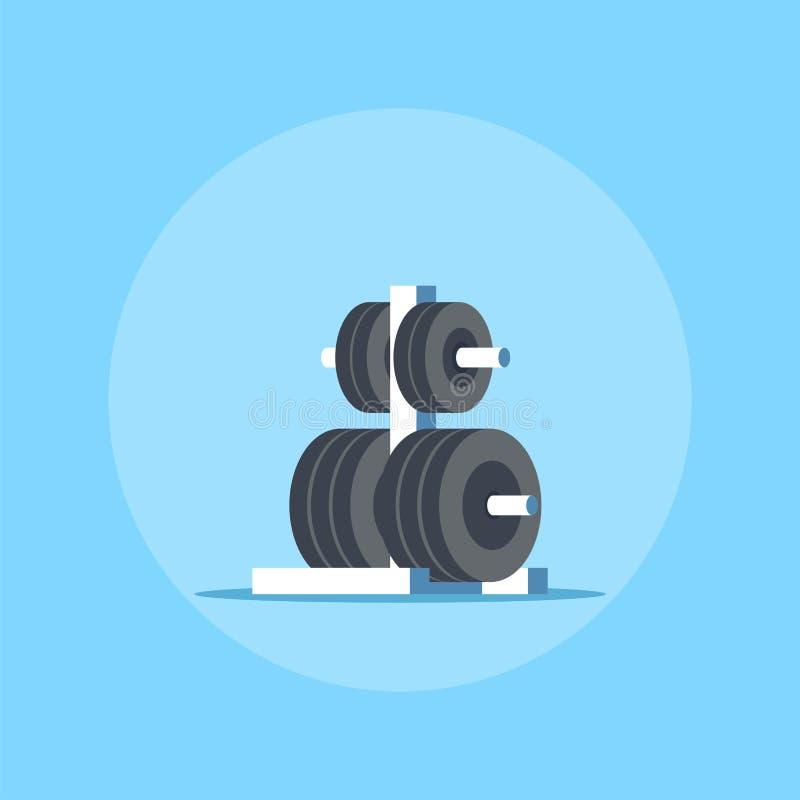 Gewichte beanspruchen für Barbell stark vektor abbildung