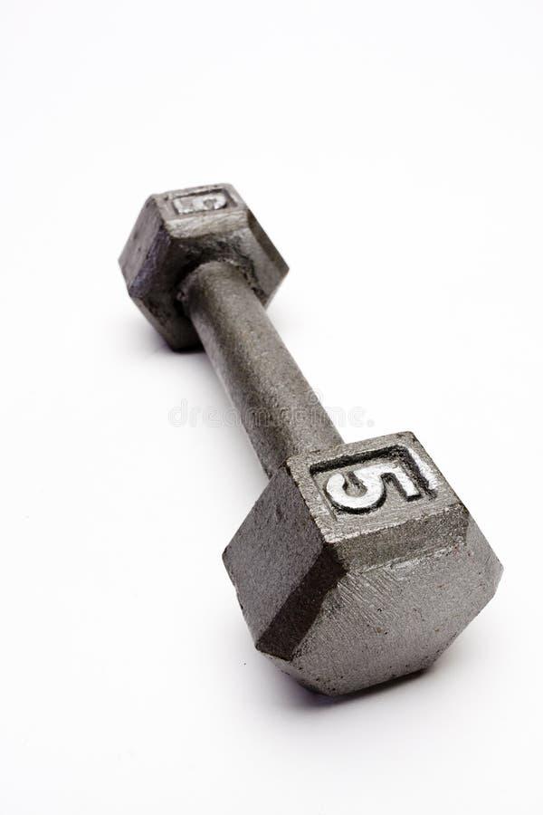 Gewichte der Nahaufnahme eine Handtrennten weißen Hintergrund stockbilder