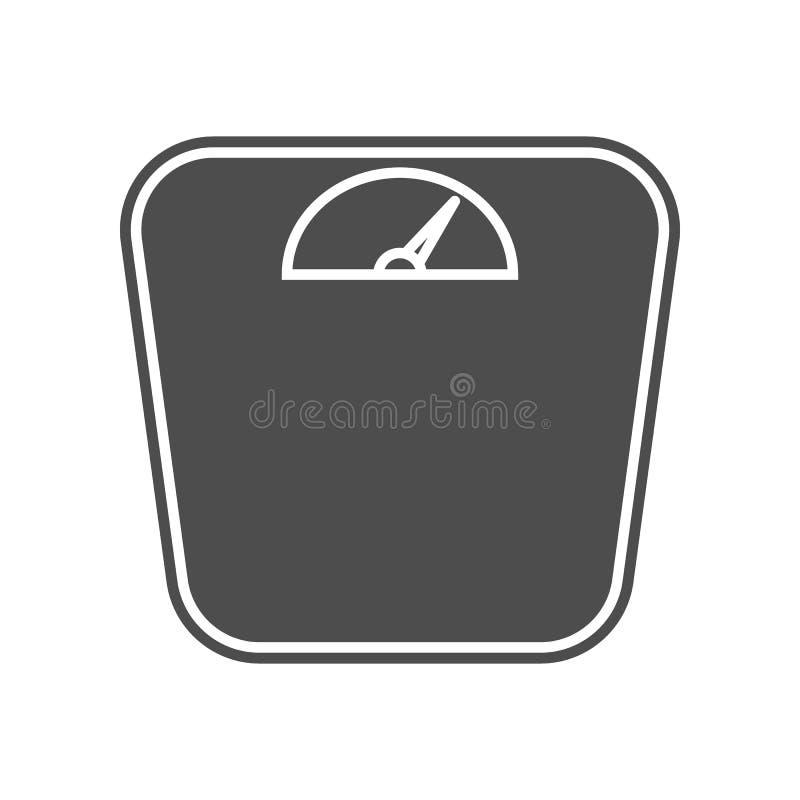Gewichte f?r Skalaikone Element von minimalistic f?r bewegliches Konzept und Netz Appsikone Glyph, flache Ikone f?r Websiteentwur stock abbildung