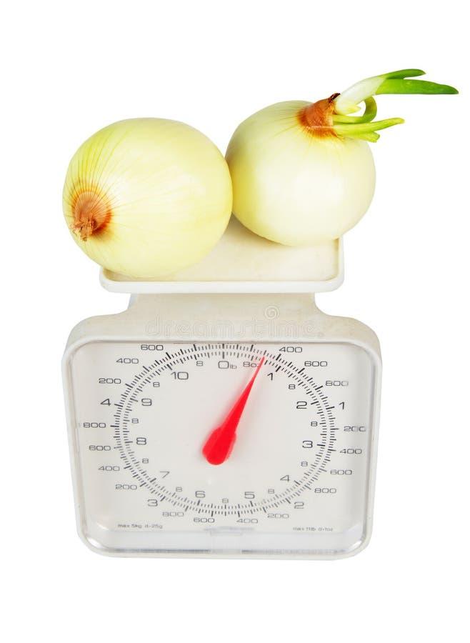 Gewichte mit vegies stockbilder