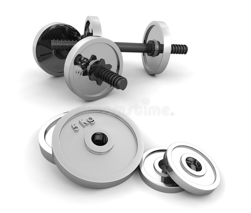 Gewichten vector illustratie