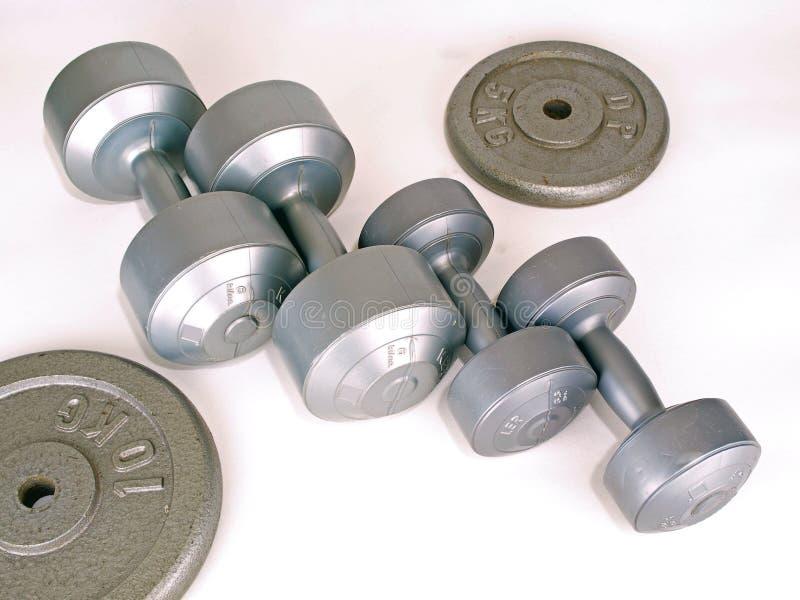 Gewichten voor Oefening stock fotografie
