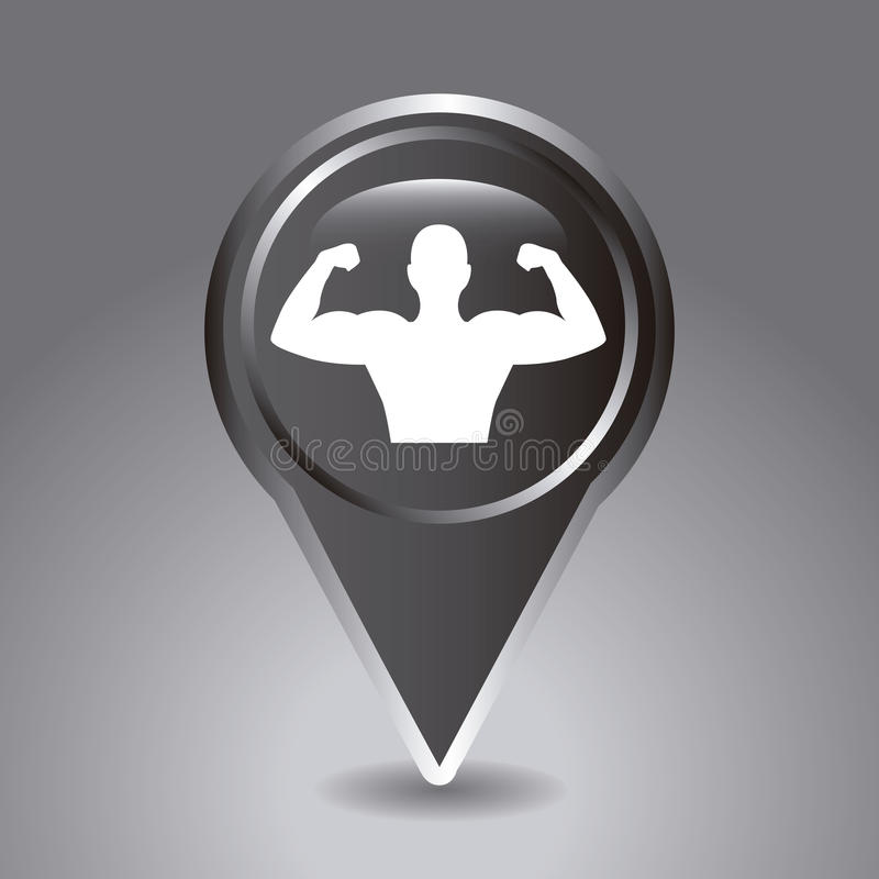 Gewichtheben vektor abbildung