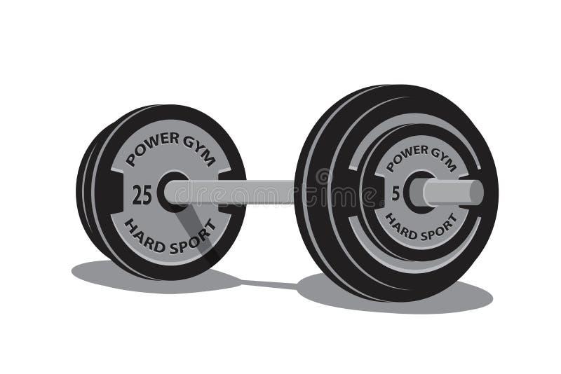 Gewichtheben Barbell in der Art 3d Taube als Symbol der Liebe, pease lizenzfreie abbildung