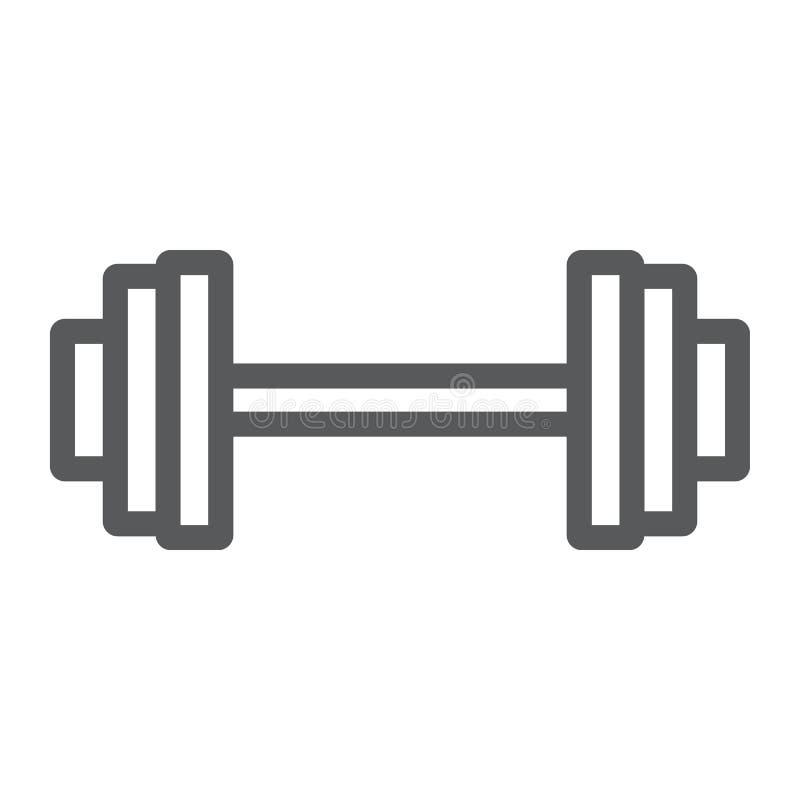 Gewichthebenlinie Ikone, Turnhalle und Sport, Barbell stock abbildung