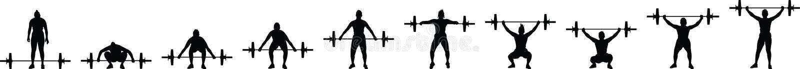 Gewichthebenmädchen vektor abbildung