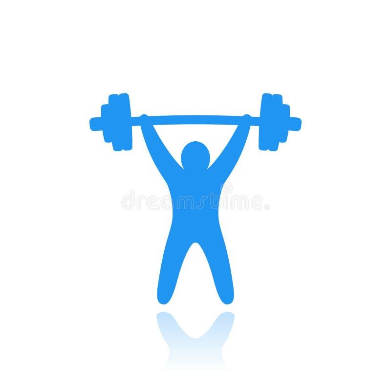 Gewichthebenvektorikone stock abbildung
