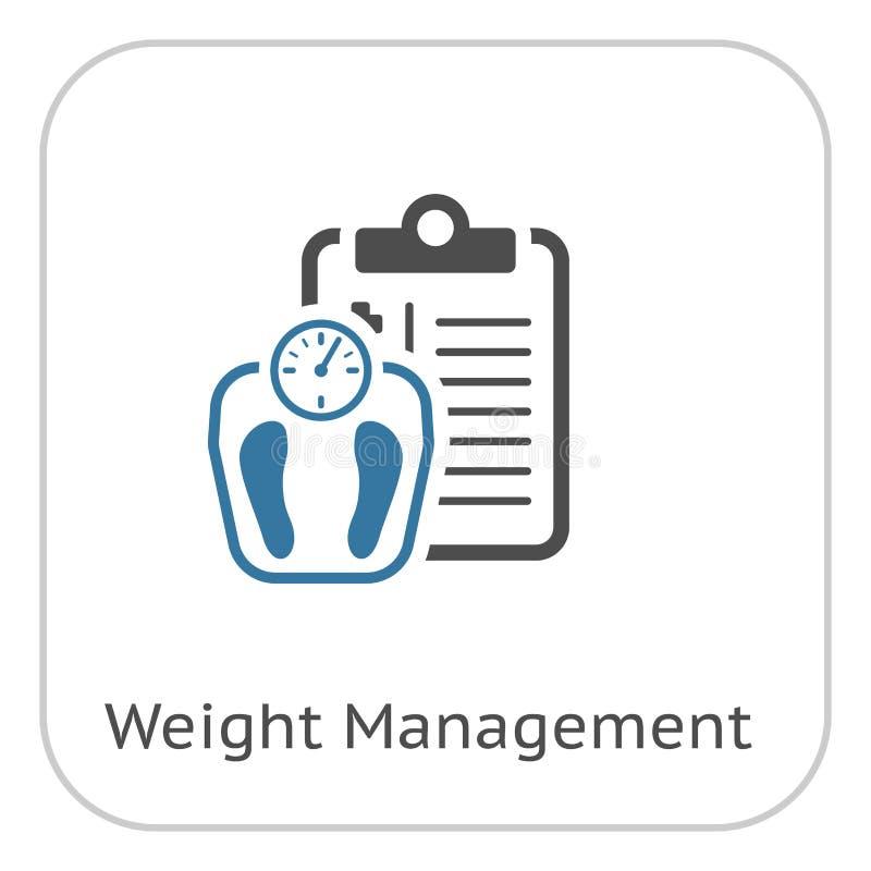 Gewichts-Management-flache Ikone lizenzfreie abbildung