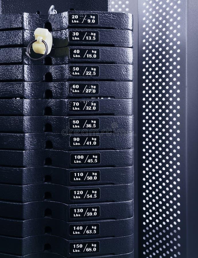 Gewichts-Stapelabschluß oben lizenzfreie stockfotografie