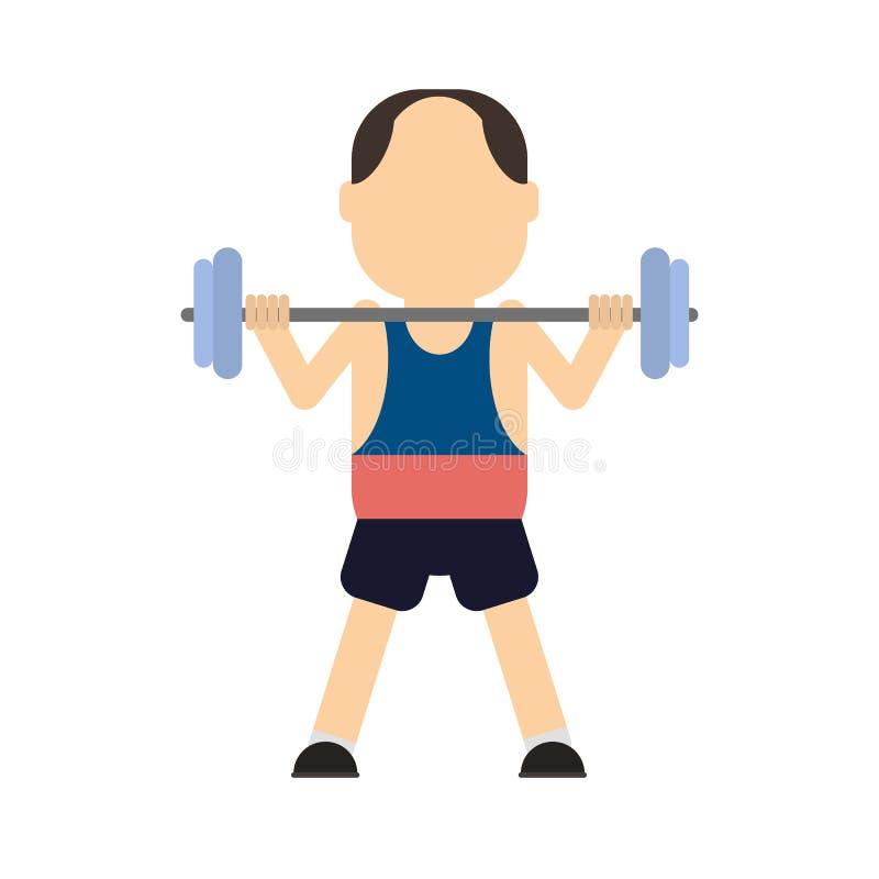 Gewichtsheftoestel royalty-vrije illustratie