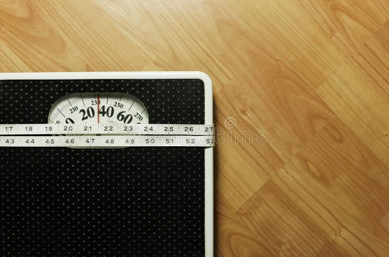 Gewichtsskala 8 stockfoto