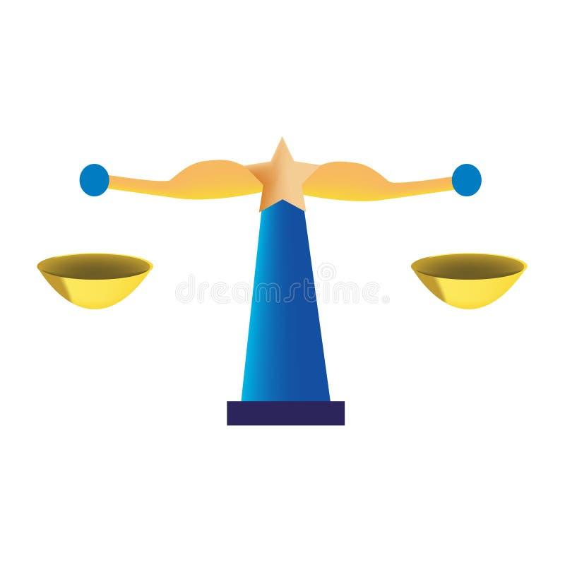 Gewichtskala als Waagehoroskop stock abbildung