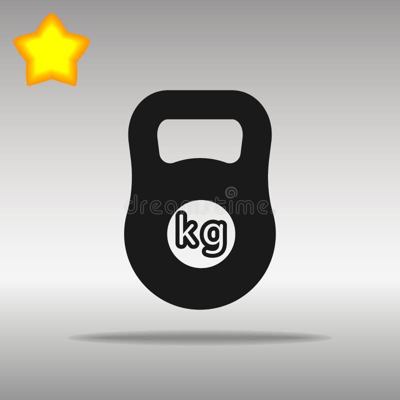 Gewichtskilogramm Barbellzeichen lizenzfreie stockfotos