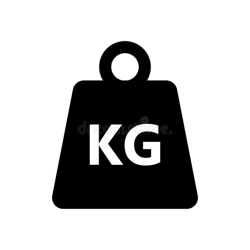 Gewichtskilogrammikone auf weißem Hintergrund stock abbildung