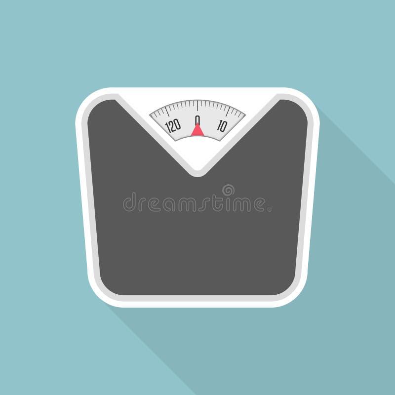 Gewichtsskala mit langem Schatten lizenzfreie stockbilder