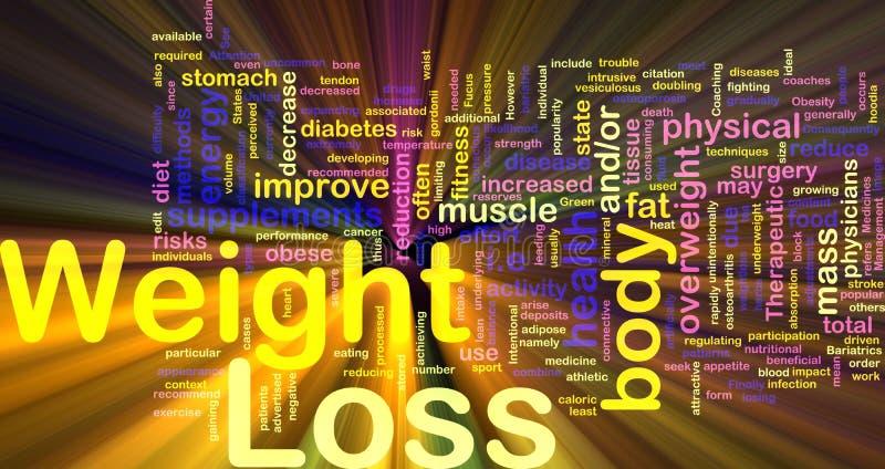 Gewichtverlust-Hintergrundkonzeptglühen lizenzfreie abbildung