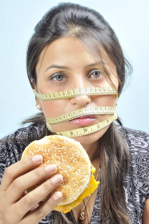 Gewichtverlustproblem stockbilder