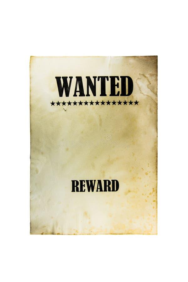 Gewilde dode of levende document achtergrond De affiche van Wilde Westennen royalty-vrije stock foto