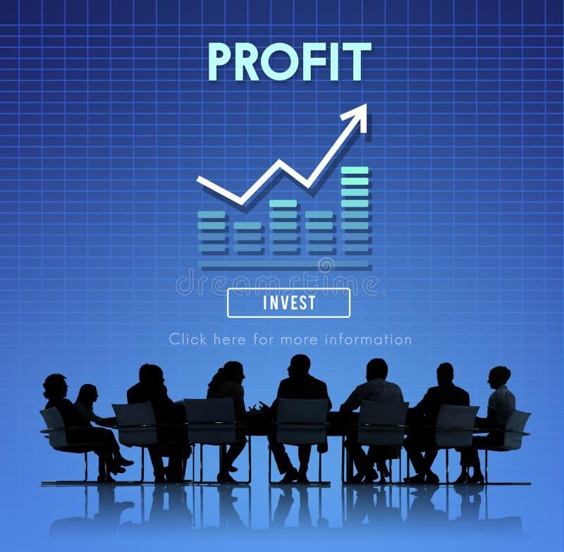 Gewinn-Buchhaltungs-Nutzen-Anlagegut-Konzept lizenzfreies stockfoto