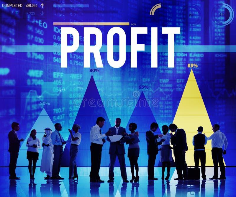 Gewinn-Nutzen-Buchhaltungs-Gewinn-Finanzeinkommenskonzept lizenzfreie stockbilder