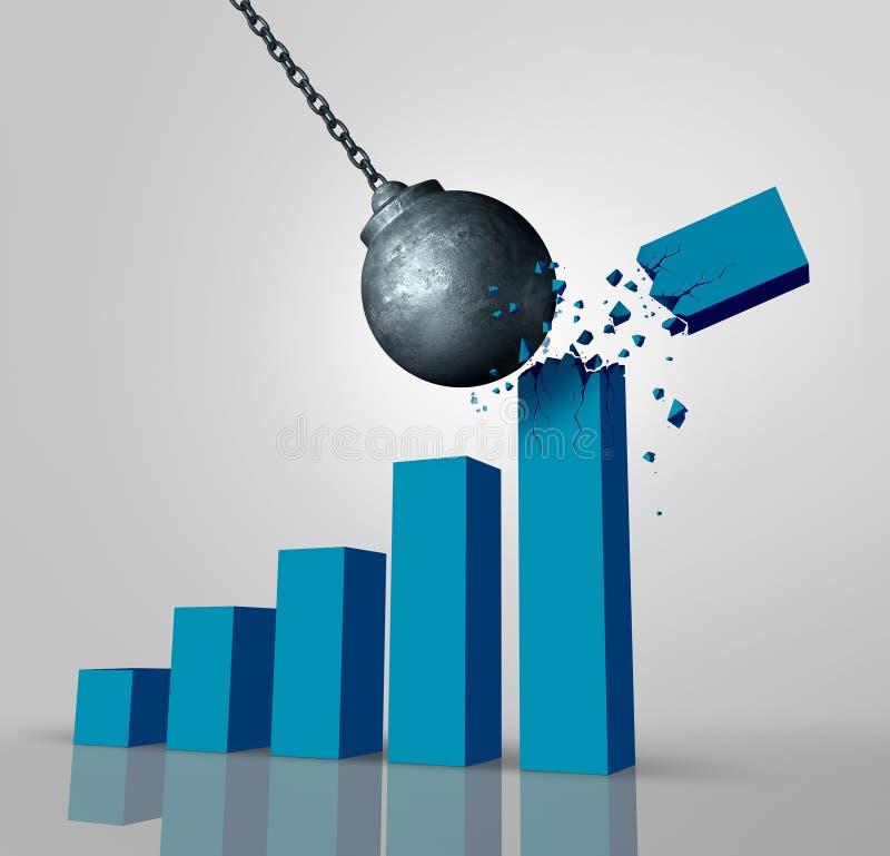 Gewinn-und Reichtums-Zerstörung lizenzfreie abbildung