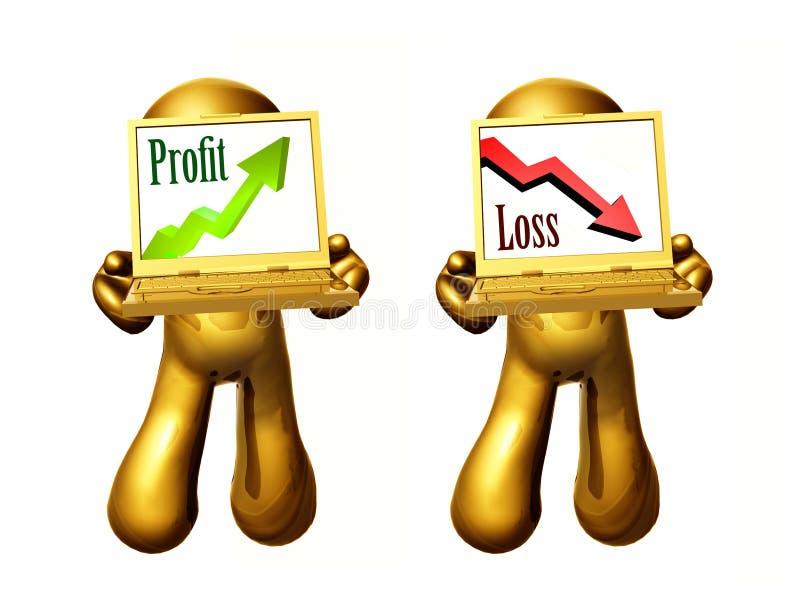 Gewinn- und Verlustikone lizenzfreie abbildung