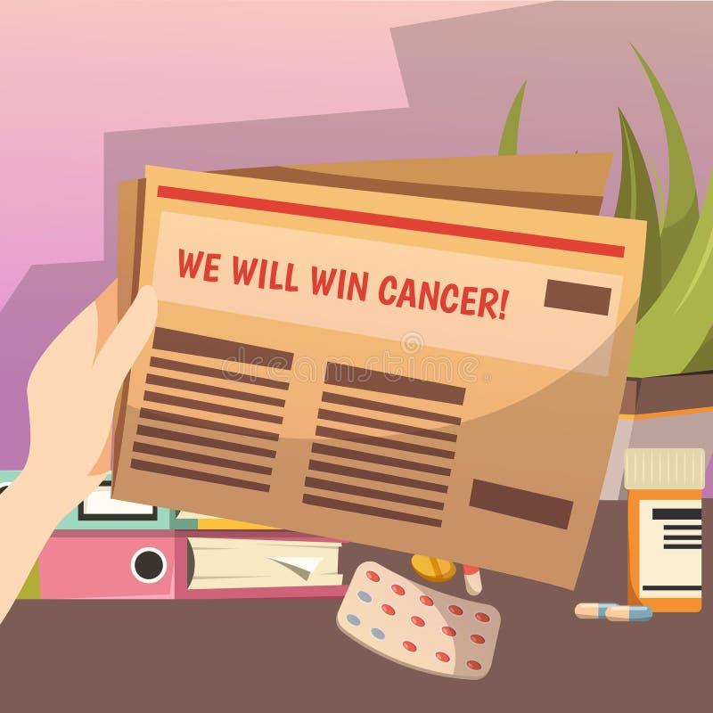 Gewinnen gegen Krebs-orthogonale Zusammensetzung vektor abbildung