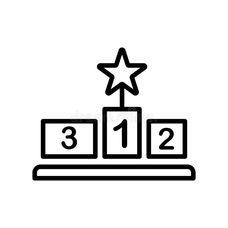 Gewinnen Sie das Ikonenvektorzeichen und -symbol, die auf weißem Hintergrund, Wi lokalisiert werden lizenzfreie abbildung