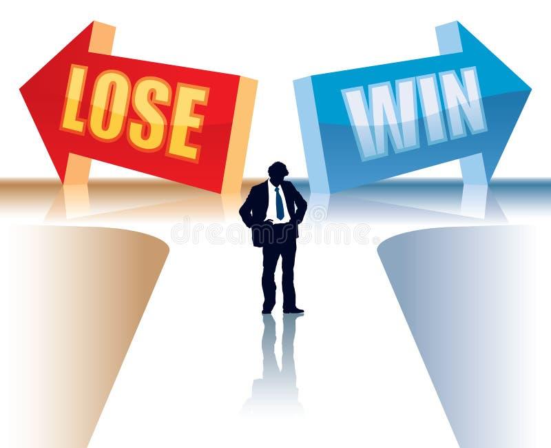 Gewinnen Sie oder verlieren Sie lizenzfreie abbildung